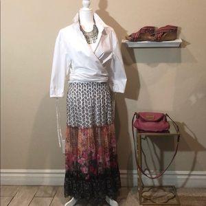 Lapis Print Maxi Skirt